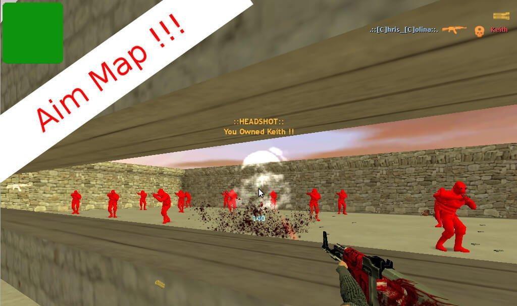 стрельба по ботам в cs 1.6